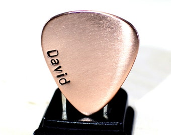 Personalized Copper Guitar Pick with Name Down the Side for Rocking Out a Custom Statement - GP292