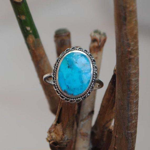 SOLD Vintage turquoise ring, boho ring, native american ring, vintage ring, ethnic ring, turquoise jewelry, native american jewelry