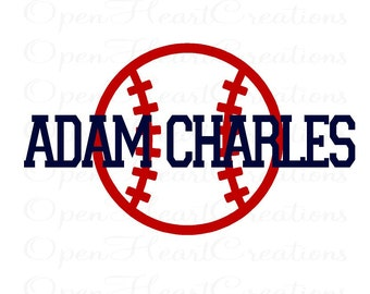 Baseball and Name Wall Decals - Athletic Varsity Sports Bedroom Vinyl Wall Decal Boy Teen Nursery FN0343