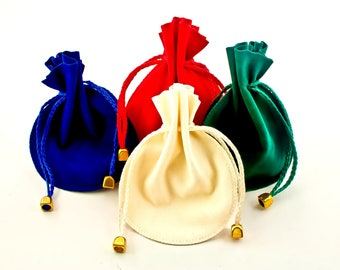 """Double Face Suede Drawstring Jewelry Pouches - 4.0"""" x 3.25"""""""