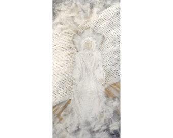 Book of Life original acrylic painting on canvas, 10x20 artwork