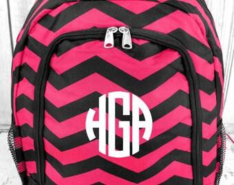 Chevron Monogram Backpack
