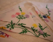 Vintage Tablecloth Bunting