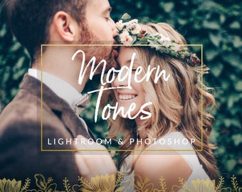 Modern Tones Wedding Lightroom Presets & Photoshop Filters for Photographers