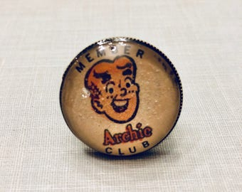 Member of the Archie Club Comic Book original collage adjustable ring