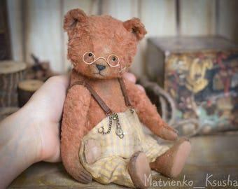 Makar artist teddy bear OOAK 8.5 in