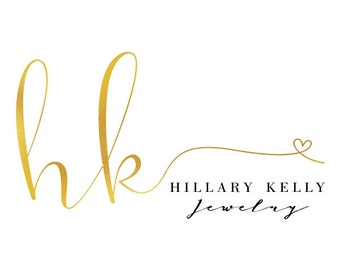 Premade Logo Design, Custom Logo, Calligraphy Logo, Gold Logo, Custom Business Card Branding, Wedding Signs PL64