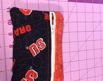 Hand made SU (new fabric) small zippered cosmetic/i phone/money bag