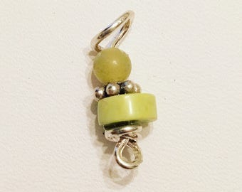 Lime Turquoise on Silver Loc Jewelry