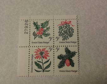 Plate Block 5 cent postage stamp 1964