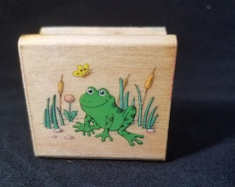 Friendly Frog Rubber Stamp Used  View All Photos