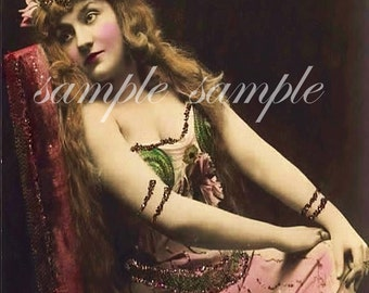 DIGITAL DOWNLOAD Gypsy Art imprimable belle femme Antique photographie victorienne Risque Gypsy Bohomeian Boho Shabby Chic VINTAGE photo