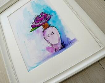 Lola perfume bottle illustration