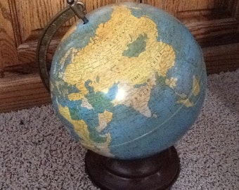 "REDUCED PRICE! Replogle Globes 8"" Metal Globe made in the early 1950s"