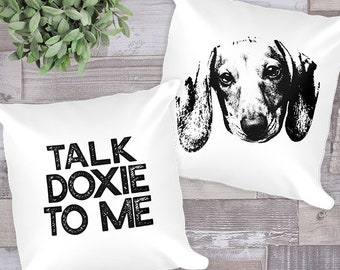 Dachshund Pillow Sausage Dog Decorative Throw Pillow Gift Dog Mom Dog Lover Housewarming Gift Living Room Decor Weiner Dog