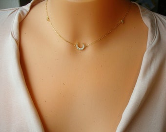 Star & Moon Necklace goldfilled