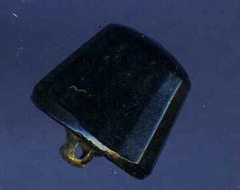 Antique Black Glass Button Odd Shape, Sm.