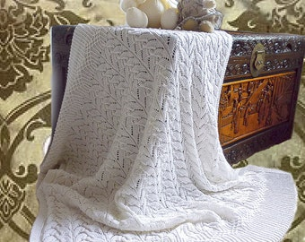 KNITTING PATTERN-Cathedral Heirloom Blanket