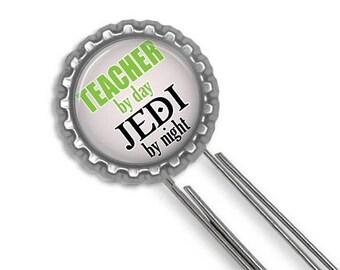 ON SALE - Jedi Teacher, Bookmark, Teacher Gift, Teacher Appreciation, Thank You Gift, Gifts for Teachers, Star Wars Fan, Geekery