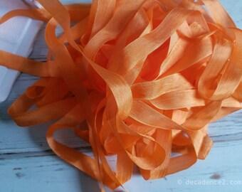 5 yards Orange Naht Bindung Forsythie. Verpackung, Scrapbooking, schäbig hübsche Verzierung