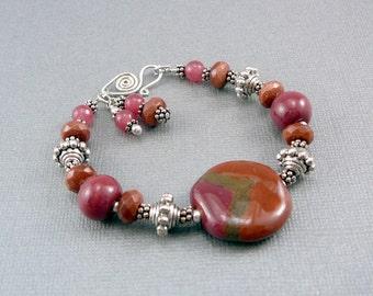 Kazuri Bead Bracelet, Fair Trade Jewelry, Ceramic Bracelet, Smart Jewelry, Jewelry Gift for Women, Cool Jewelry, Ceramic Jewelry