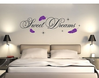 20% OFF Memorial Day Sale Sweet Dreams wall decal, sticker, mural, vinyl wall art