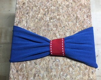 Children's Royal Blue and Red Stretchy Headband