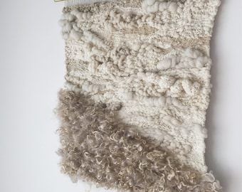 the softening of sound | large handwoven wall hanging | textural weaving
