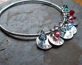 Personalized Mother's Bangle