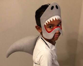 Shark costume, shark mask, shark fin, shark cosplay, ocean creature, shark party favor, jaws costume, sea creature costume,