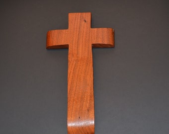 "Wood Wall Cross;5""x10""x1"";Christian Gift;Baptism, Christening; Confirmation; Sympathy; Easter; Graduation; Free Ground Shipping cc25-2022417"