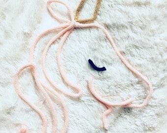 Unicorn knitting