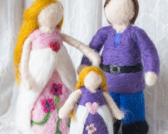 Waldorf Inspired Needle Felted Faerieland Family *Made to Order*