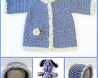 Toddler Cotton Coat and Bunny Crochet Pattern 686
