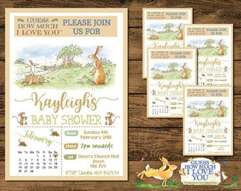 10 Personalised Baby Shower Invites Guess How Much I Love You