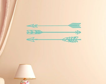 Arrow Wall Decals, Tribal Wall Decals, Childrens Wall Decor, Kids Wall Art, Be Brave Wall Decals
