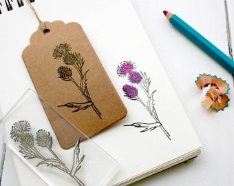 Scottish Thistle Wild Flower Clear Rubber Stamp