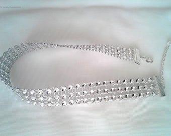 Rhinestone Choker, Rhinestone Style Choker, Faux Diamond Choker, Sparkle Choker, Silver Choker