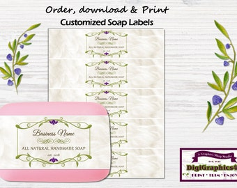 All Natural Handmade Soap Labels, Soap Wrappers Customized for your Business