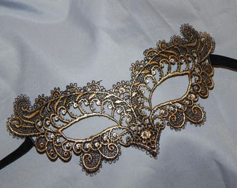 Gold Soft Lace Masquerade Mask - Available in Many Colors