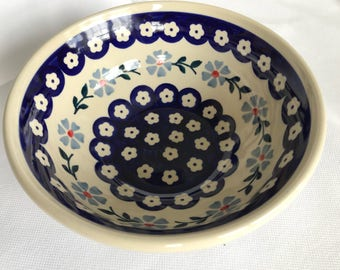 Cereal Bowl Blue Floral Pattern, perfect