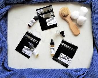 Natural Skin Care Sample Set | Face Mask | Facial Cleanser | Face Serum | Facial Set | Skin Care Set | Travel Size