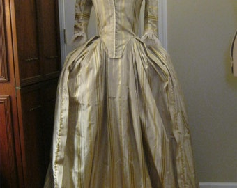 Silk Stripe Colonial Gown size 8
