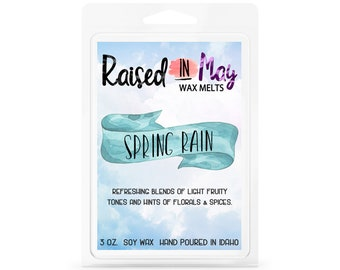Spring Rain Wax Melts - Wax Cube - Home Fragrance - Spring Rain - Soy Wax Tart - Soy Wax Melt - Soy Wax - Candle - Soy Candle - Scented Wax
