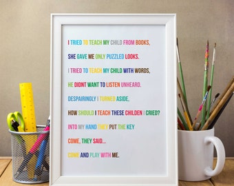 Childrens Poem Print