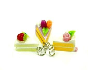 Bijoux en argile polymère, charmes de Mini cupcake, set de 3 pcs.