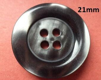9 buttons Dark grey 21 mm (1959) button Anthracite