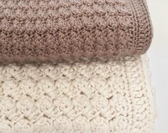 Crochet Baby Blanket Pattern - Chunky Crochet Baby Blanket - Bulky Yarn - Chunky Throw Pattern, Afghan - Pattern by Deborah O'Leary Patterns