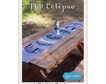 """Pattern """"The Eclipse Table Runner"""" by Valori Wells Pattern Booklet Sewing Card"""