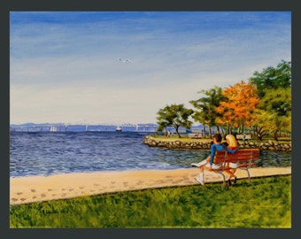 Watching the Boats: the Hudson at Dobbs by Ronnie Levine